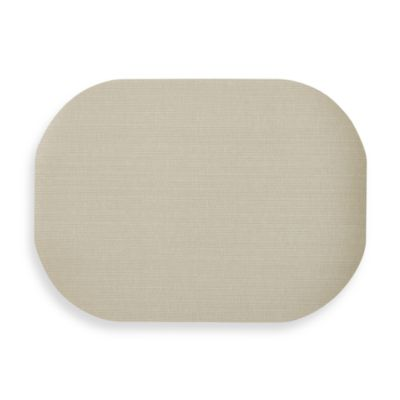Dasco Cabo Oval Laminated Placemat in Sand