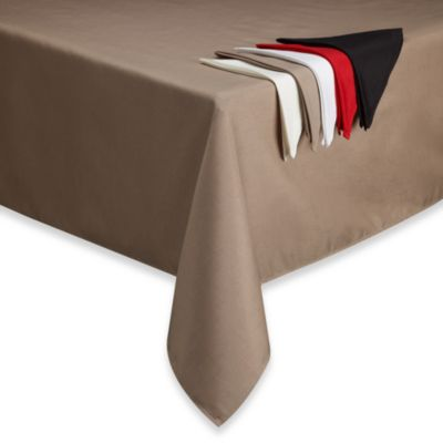 Basics Solid 60-Inch x 102-Inch Tablecloth in White