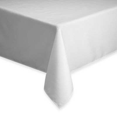 Basics Solid 70-Inch Round Tablecloth in White