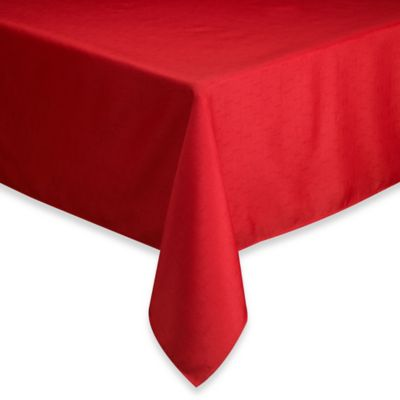 Basics Solid 60-Inch x 120-Inch Tablecloth in Ruby