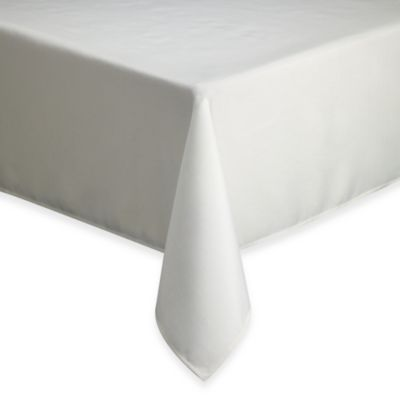 Basics Solid 60-Inch x 120-Inch Tablecloth in Cream