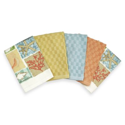 At the Beach 5-Piece Kitchen Towel Set
