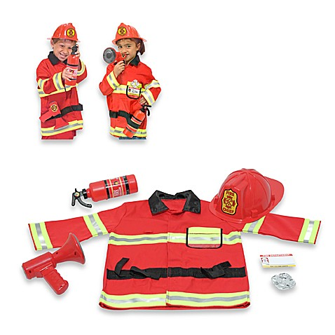 Melissa & Doug® Firefighter Role Play Costume Set