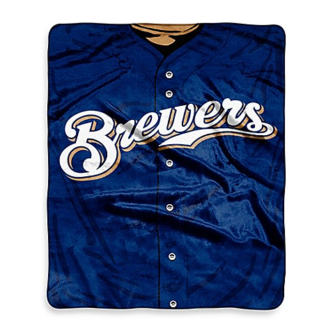 MLB Milwaukee Brewers Retro Raschel Throw Blanket