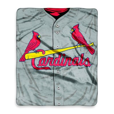 MLB St. Louis Cardinals Retro Raschel Throw Blanket