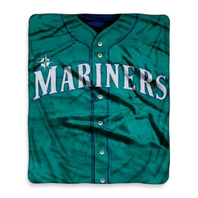 MLB Seattle Mariners Retro Raschel Throw Blanket