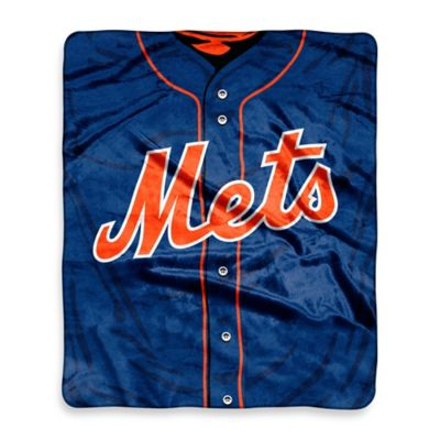 MLB New York Mets Retro Raschel Throw Blanket