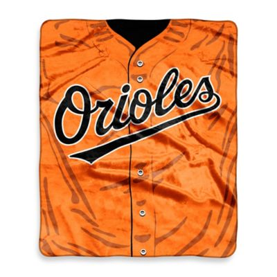 MLB Baltimore Orioles Retro Raschel Throw Blanket