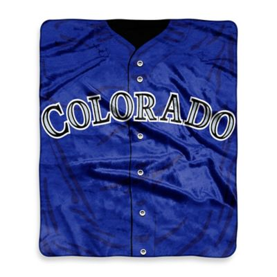 MLB Colorado Rockies Retro Raschel Throw Blanket