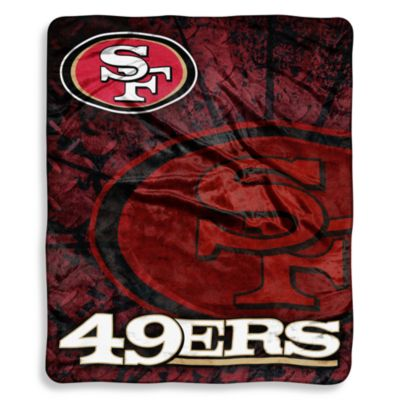 San Francisco 49ers Raschel Throw