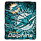 Miami Dolphins Raschel Throw