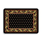 Bungalow Flooring Black Paisley Premium Kitchen Mat