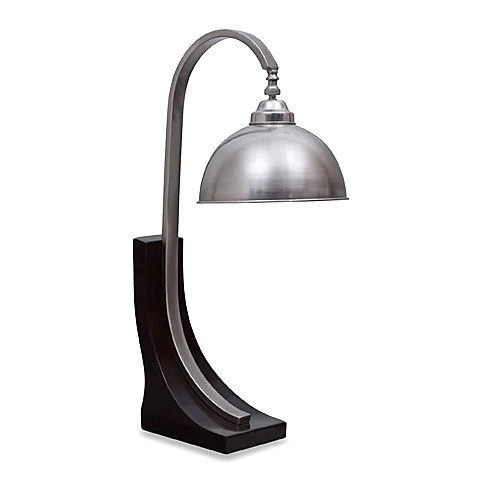 Espresso and Stainless Steel Desk Lamp