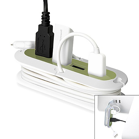 Quirky® Contort USB Hub and Cord Manager