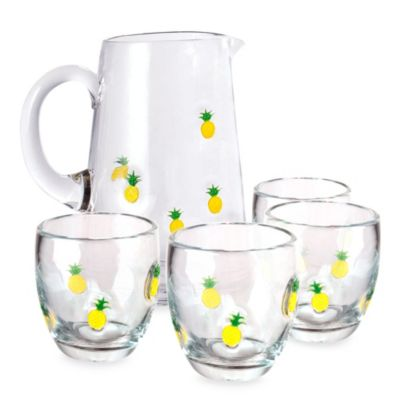 Welcome Beverage Set in Pineapple