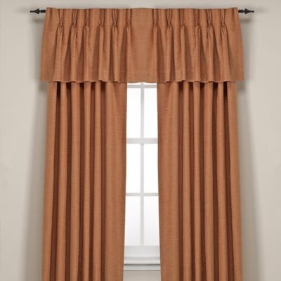 Red Pleat Valance