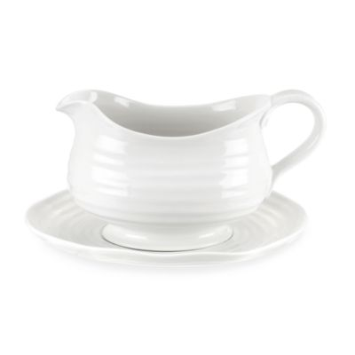 Portmeirion® Sophie Conran Gravy Boat with Stand in White