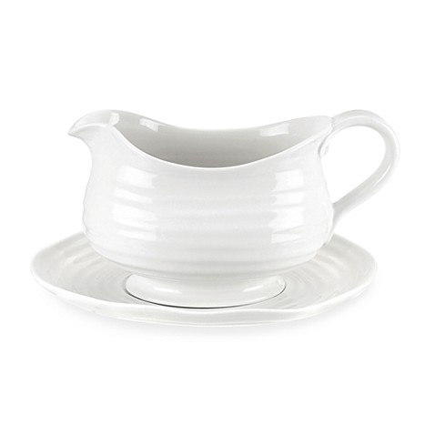 Sophie Conran for Portmeirion® Gravy Boat with Stand in White