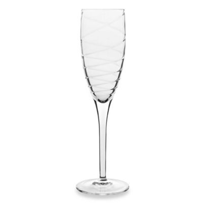 Luigi Bormioli Romantica Sparkx 6 3/4-Ounce Toasting Flute Glasses (Set of 4)