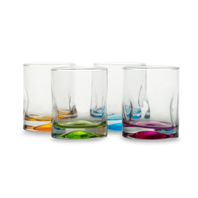Impressions Colors Double-Old Fashioned 4-Piece Set