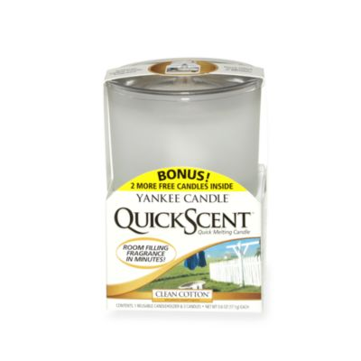 Yankee Candle® QuickScent™ Quick Melting Candle Kit in Clean Cotton