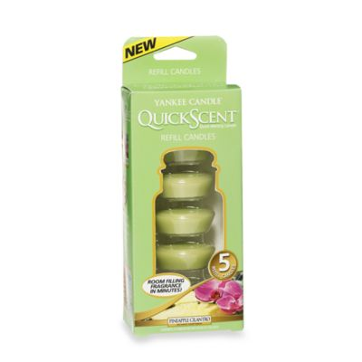 Yankee Candle® QuickScent™ Quick Melting 5-Candle Refill Pack in Pineapple Cilantro