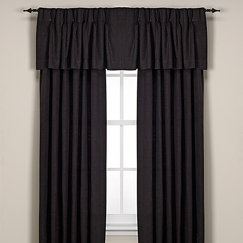 Buy Union Square Pinch Pleat 84 Inch Window Curtain Panel In Black From Bed Bath Beyond