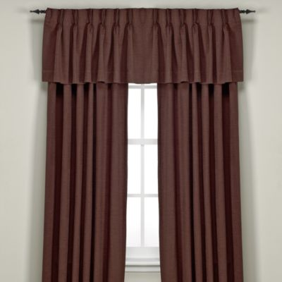 Union Square Pinch Pleat 84-Inch Window Curtain Panel in Chocolate