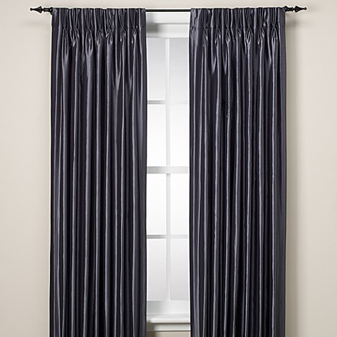 Argentina Pinch Pleat Back Tab Interlined Window Curtain Panel Bed Bath Beyond