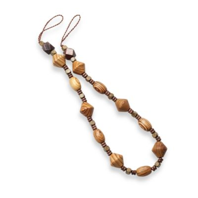 Wood Bead Tie Back