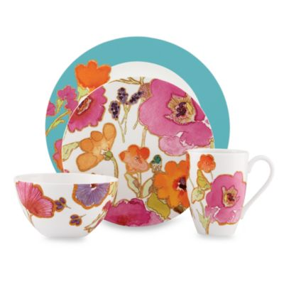 Lenox® Floral Fusion Aqua 4-Piece Place Setting
