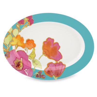 Lenox® Floral Fusion Aqua Oval Platter