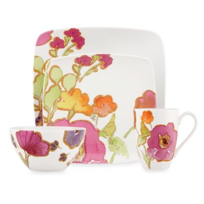 Lenox® Floral Fusion Square 4-Piece Place Setting
