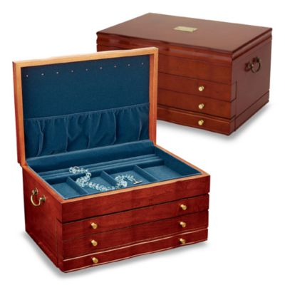 Reed & Barton® Athena Jewelry Chest in Cherry