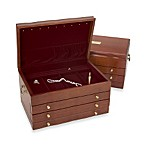 Reed & Barton®  Athena Jewelry Chest in Mahogany