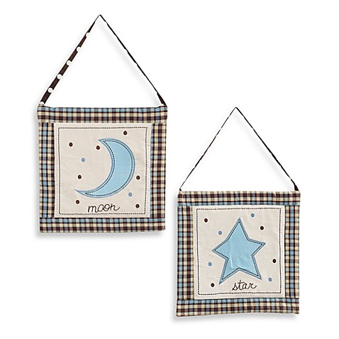 My Baby Sam Mad About Plaid Blue Wall Art (Set of 2)