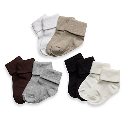 Be Basic™ Non-Skid Socks - 0 - 6 Months