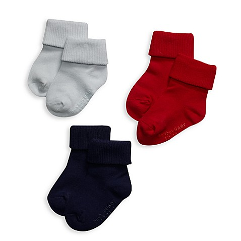 Be Basic™ Non-Skid Socks - Blue - 0 - 6 Months