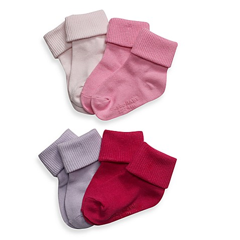Be Basic™ Non-Skid Socks - Pink - 12 - 24 Months