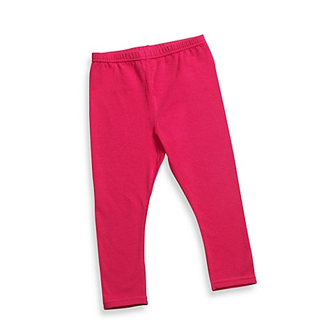 BE Basic™ 0 - 6M Cotton Leggings in Fuschia