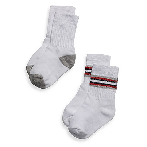 Be Basic™ Crew Socks (6-Pack) - 12 - 24 Months
