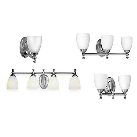 Bel Air Lighting Opal Glass Brushed Nickel Bathroom Lighting Fixtures