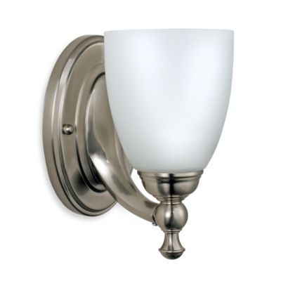 Bel Air Lighting Opal Glass Brushed Nickel 1-Light Bathroom Lighting Fixture