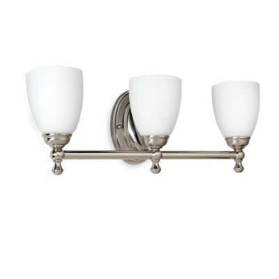 Bel Air Lighting Opal Glass Brushed Nickel 3-Light Bathroom Lighting Fixture
