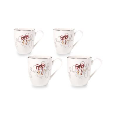 Mikasa® Love Story Holiday 14-Ounce Mugs (Set of 4)