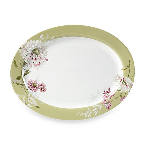 Mikasa® Silk Floral Pink 16-Inch Oval Platter