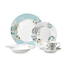 Mikasa® Silk Floral Teal 5-Piece Dinnerware Set