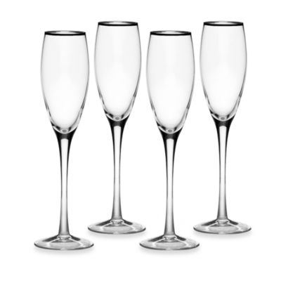 Mikasa® Cameo Platinum 7 1/2-Ounce Flutes (Set of 4)