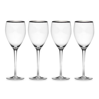 Mikasa® Cameo Platinum 13-Ounce Goblets (Set of 4)