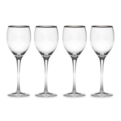 Mikasa® Cameo Platinum 9-Ounce Wine Glasses (Set of 4)